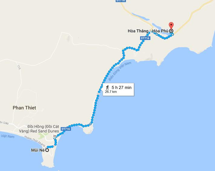 Sand Dunes of Vietnam - Map